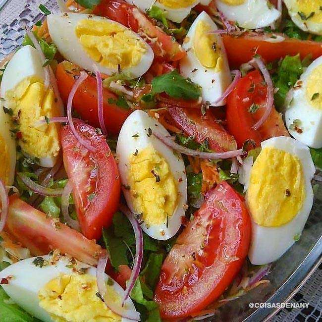 Salada de Ovo Sem Maionese