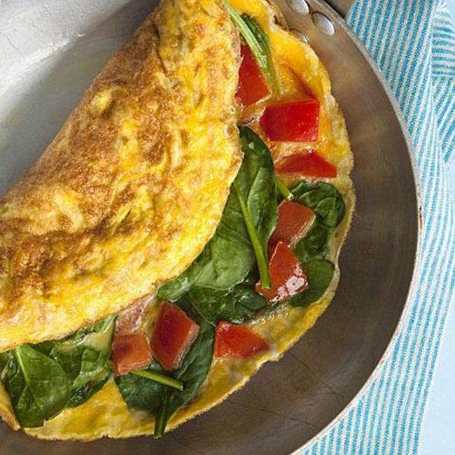 Omelete-de-Espinafre2 Omelete de Espinafre