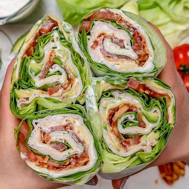 Sanduiche-de-Alface2 27 Receitas para Emagrecer com Saúde