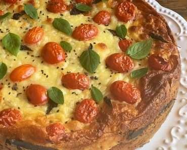 Torta de Couve Flor Low Carb