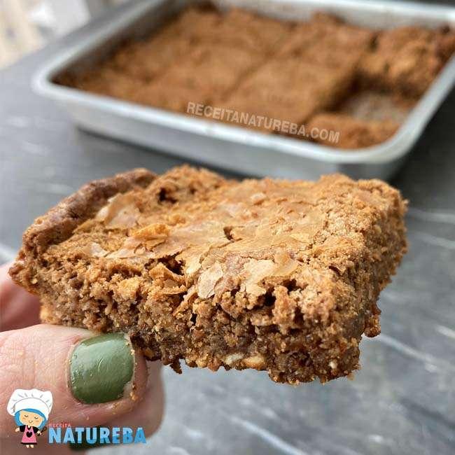 Brownie-com-Farinha-de-Arroz Brownie com Farinha de Arroz