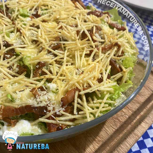Salada-de-Alface-com-Bacon Salada de Alface com Bacon