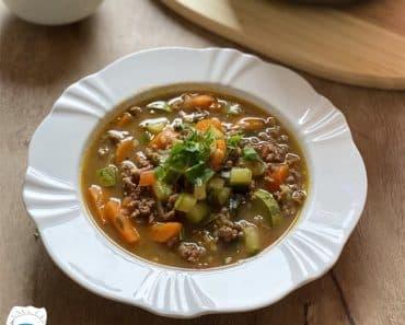 Sopa de Legumes com Carne Moida