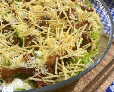 Salada de Alface com Bacon