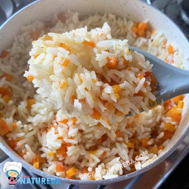 Arroz-com-Cenoura Arroz com Cenoura