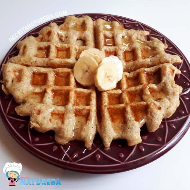 Waffle-de-Banana Waffle de Banana